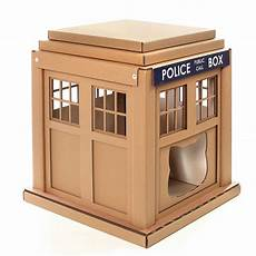 tardis cat house plans doctor who tardis cardboard cat house scratchier on the