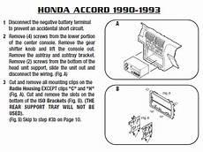 1992 honda civic stereo wiring 1992 honda accordinstallation