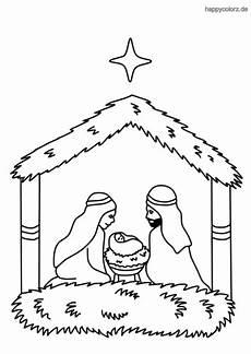 ausmalbilder kostenlos weihnachten krippe kinder