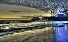 HD Santa Monica Pier At Dusk Wallpaper  Download Free 70460