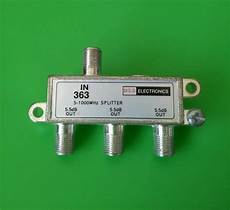 lot of 10 3 way cable tv antenna splitter 5 1000 mhz ebay