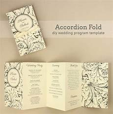 diy tutorial free printable folded wedding program wedding printable wedding programs diy