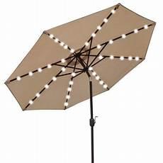 strong u021 270 beige 9 ft solar 40 led lights patio umbrella garden outdoor sunshade