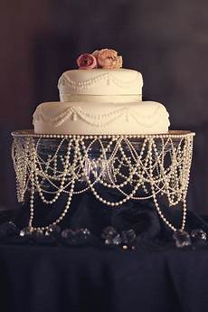 draped pearl wedding cake it would be so sweet for a