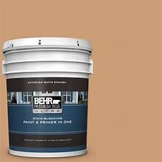 behr premium plus ultra 5 gal icc 62 pumpkin butter satin enamel exterior paint and primer in