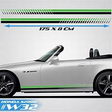 honda s200 sports side racing stripes car decals graphics rally stickers decals autos