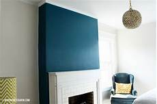 Wandfarbe Petrol Grau - inspired by charm painted fireplace wall color is slate