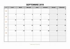 Calendrier Septembre 2018 224 Imprimer