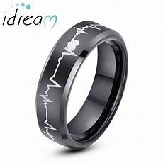 black tungsten wedding bands beat of my heart tungsten
