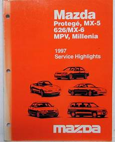 automotive repair manual 1997 mazda mx 5 instrument cluster 1997 mazda service highlights shop manual protege mx 5