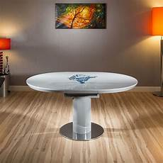 modern dining table grey gloss oval extending 1200