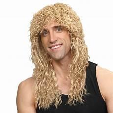 Dauerwelle Mittellange Haare - rockstar wig mens curly 1980s perm fancy dress