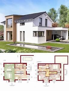 haus bauen ideen einfamilienhaus modern mit satteldach architektur design carport haus bauen grundriss