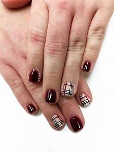 fall nails plaid nails preciousphan plaid nails