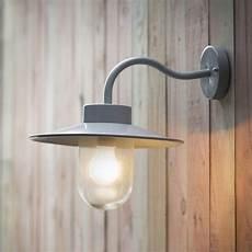 garden trading st ives swan neck exterior wall light in flint fitting type from dusk lighting uk