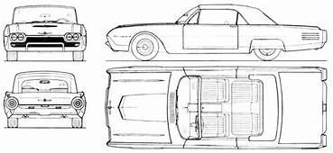 Ford Thunderbird 1961 Blueprint  Download Free