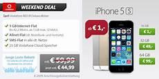 iphone 5s mit vertrag f 252 r 1 vodafone allnet flat