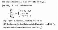 Kern Einer Abbildung - lineare algebra f x1 x2 x3 x4 x1 x2 x3 x1 x3 2x1 x2