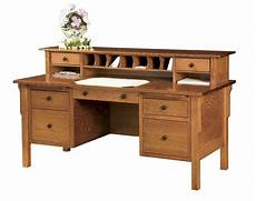 solid wood home office furniture amish computer file desk mission solid wood home office