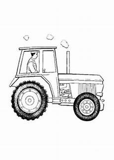 ausmalbilder zum drucken malvorlage traktor kostenlos 3