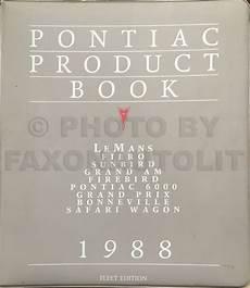 1988 pontiac bonneville repair shop manual original