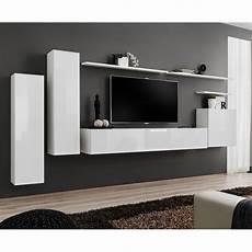 meuble tv mural design quot switch i quot 330cm blanc