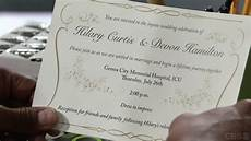 hilary and devon s wedding invitation the young and the
