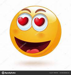 Heureux Smiley Aimante Avec Cœur Dans Ses Yeux Joli