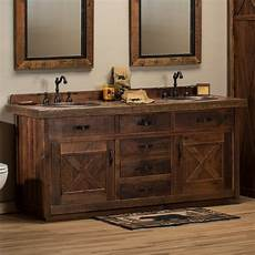 waschtisch holz landhausstil barnwood bathroom vanity barn door vanity reclaimed