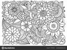 Ausmalbilder Blumenmuster Schwarz Wei 223 Es Blumenmuster Zum F 228 Rben Stockvektor