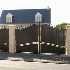 portail en fer leroy merlin portail portail aluminium bois fer pvc battant