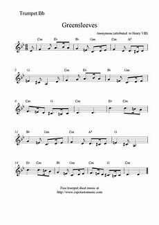 free sheet music scores greensleeves free trumpet sheet music notes