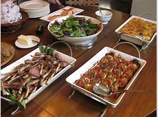 Vegetable Tian: Anatomy of a Dinner Party: Buffet for 12