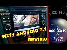 review and sound test mercedes w211 android 7 1 dvd radio