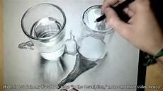 realistische zeichnung glas und wasser 3d