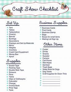 free printable craft show checklist my so called crafty