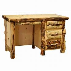 rustic log student desk with 3 drawers western country furniture decor ebay