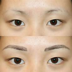 natural looking tattooed eyebrows procedure process