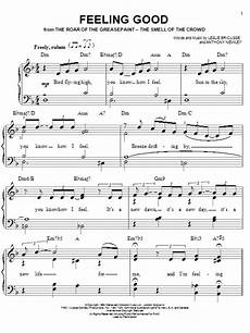 feeling good sheet music by michael buble easy piano 74514