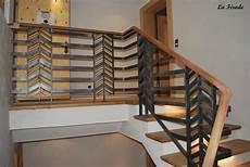 garde corps pour escalier garde corps et re escalier metal bois la ferode
