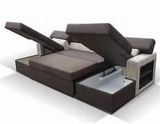 Canapé Lit Avec Rangement Canap D Angle Panoramique Convertible Avec 2 Rangements
