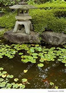 Zen Garden And Pond Stock Image I1767080 At Featurepics