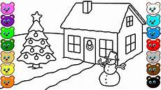 winter house coloring pages for children