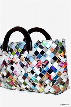taschen selber machen aus zeitschriften wrapper bag