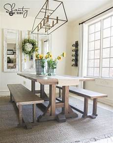 diy farmhouse dining bench plans and tutorial shanty 2 chic