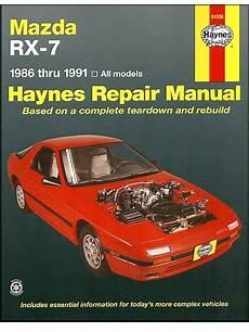 free online auto service manuals 1995 mazda rx 7 navigation system mazda rx 7 rotary repair manual 1986 1991 haynes 61036