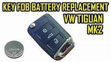how to replace battery flip key fob vw tiguan 2 mk2 2018