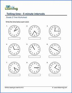time duration worksheets grade 2 3517 grade 2 telling time worksheets 5 minute intervals read the clock k5 learning