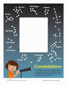 constellation chart worksheet education
