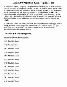 online car repair manuals free 1997 mitsubishi galant parental controls 2009 mitsubishi galant repair manual online